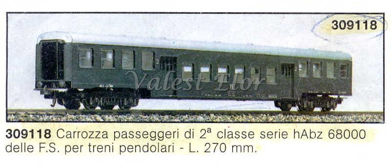 Carrozza di sola 2ª classe art. 309118 (foto da catalogo, 1983)