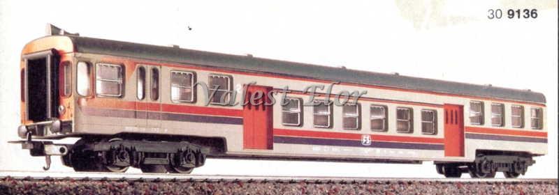 Carrozza pilota art. 309136 (foto da catalogo 1985/86)
