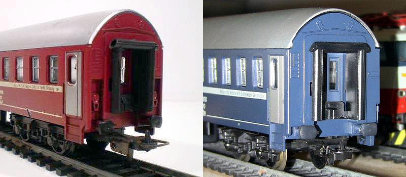 Testate a confronto: a sinistra quella originale, a destra quella modificata