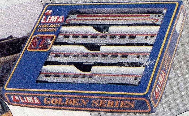 Confezione art. 149758, con locomotica SNCF CC40100 e tre carrozze - foto da catalogo Lima 1985/86