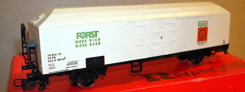 Carro FS con insegne della birra Forst, art. 2118 (foto da ebay)