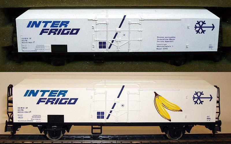 Carri con porte maggiorate: sopra la versione normale, art. 2443, sotto quella per trasporto banane, art. 2445 (foto da ebay)