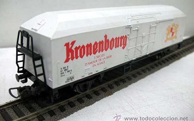 Carro SNCF con insegne della birra Kronenbourg, art. 2446 (foto da todocoleccion.net)