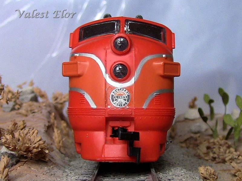 Vista frontale della locomotiva
