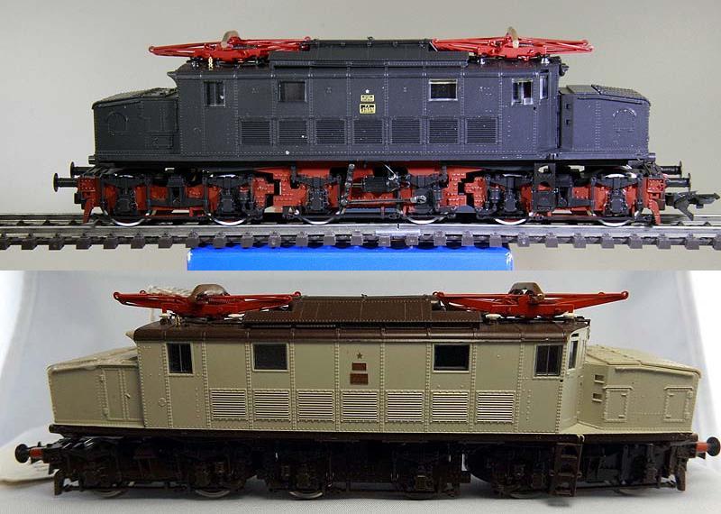 E626 076 nera, art. 43763, prodotta nel 2001 (sopra), E626 080 castano-grigio pietra, art. 4187F, prodotta nel 1982 (sotto) - foto da ebay