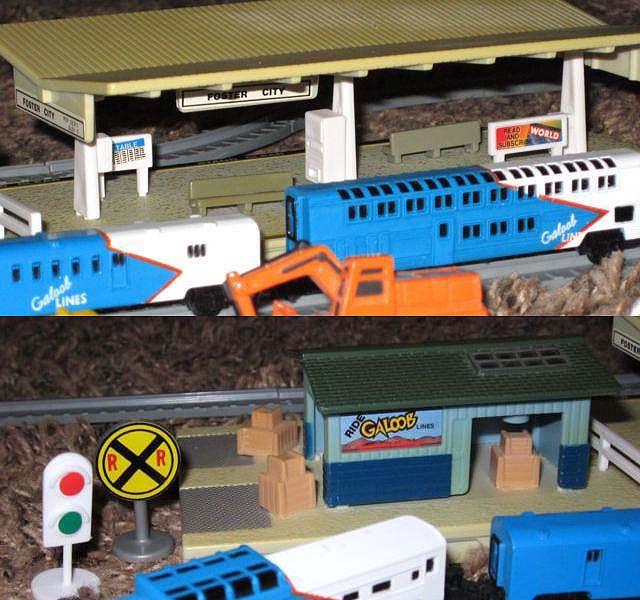 Train Station: sopra il marciapiede con pensilina, sotto il magazzino merci - foto da ebay
