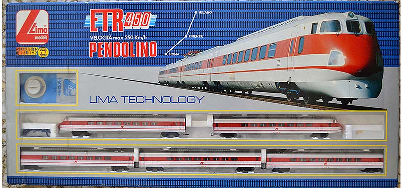 L'ETR 450 a 5 elementi nella confezione 107056T (foto da ebay)