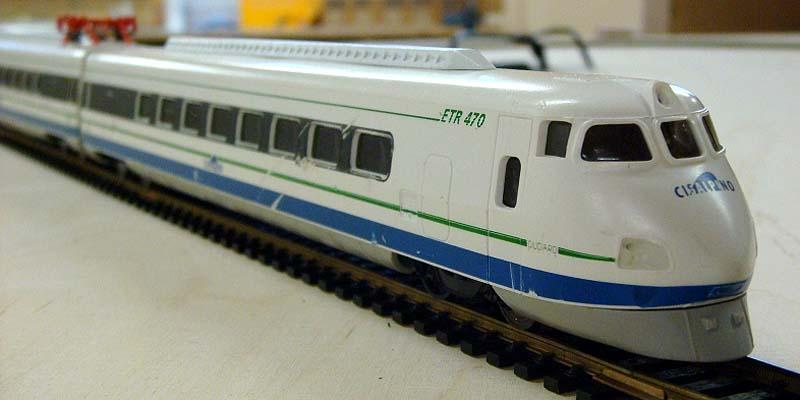 """L'ETR 450 in livrea Cisalpino, marcato """"ETR470"""" (foto da forum.hag-info.ch)"""