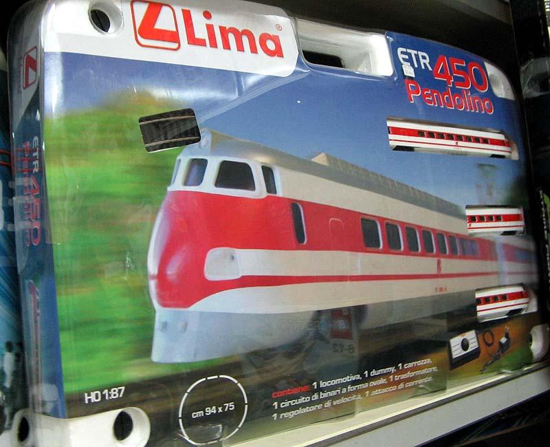 La confezione HL1032, con l'ETR 450 ridotto a 3 elementi (foto da ebay)