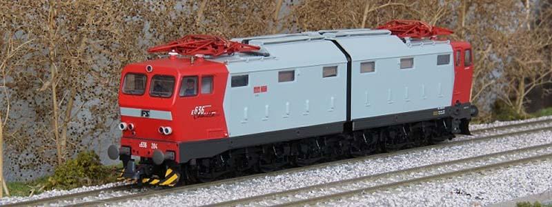 la E636 284 nel suo ultimo aspetto, art. 63854 - foto da modelliniferroviari-wiki.info