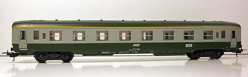 Carrozza di 1ª classe verde-grigio, art. 309103 - foto da ebay