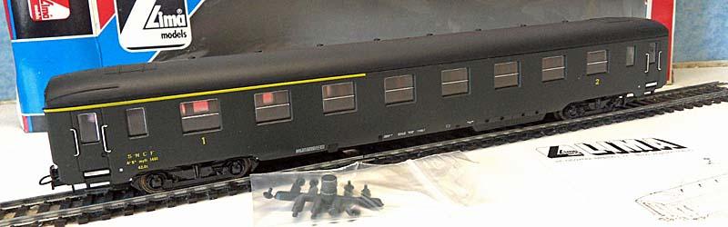 Carrozza mista di 1ª e 2ª classe verde, art. 309123 - foto da ebay