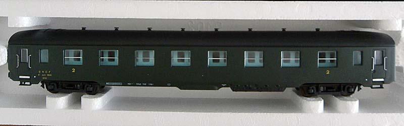 Carrozza di 2ª classe verde, art. 309149 - foto da ebay