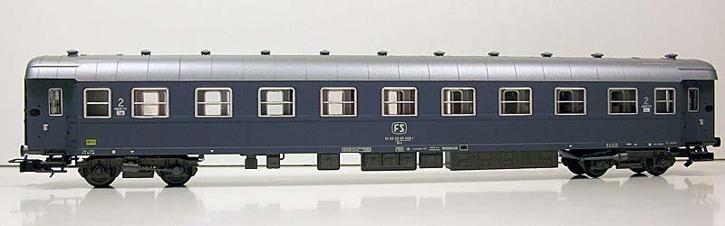 Carrozza cuccette in livrea grigio ardesia prodotta per Euroscale, art. 8315 - foto da ebay