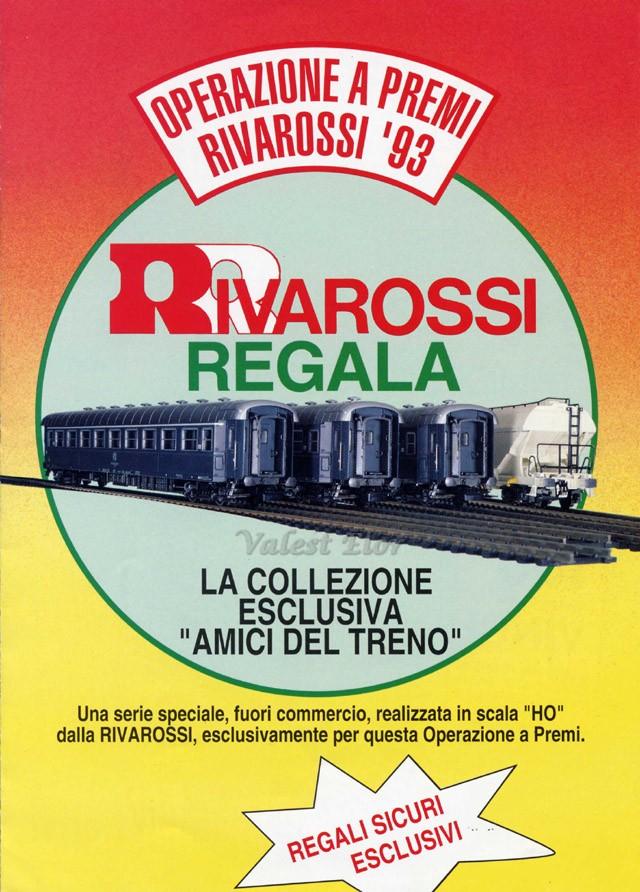 """Depliant del concorso """"Operazione a premi Rivarossi 093"""", in palio le carrozze """"tipo 1959"""""""