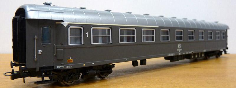 Carrozza mista di 1ª e 2ª classe grigio ardesia, art. HR4051 - foto da minimondo2002.it