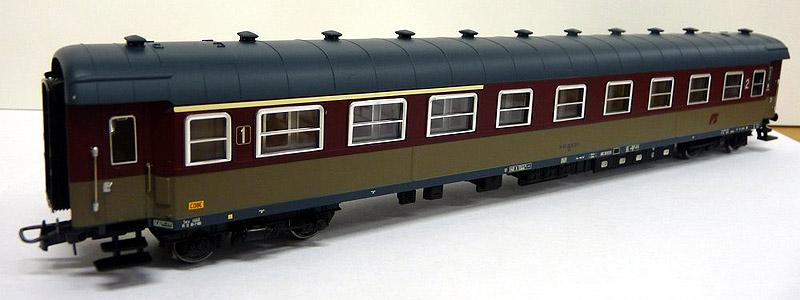 Carrozza mista di 1ª e 2ª classe rosso fegato-grigio beige, art. HR4111 - foto da minimondo2002.it