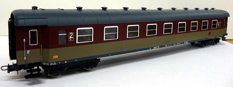 Carrozza di 2ª classe rosso fegato-grigio beige, art. HR4112 - foto da minimondo2002.it