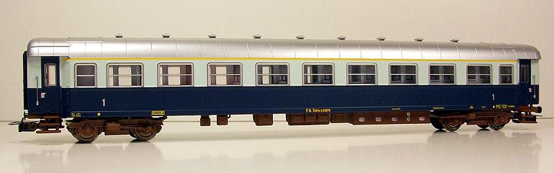 Carrozza di 1ª classe in livrea Treno Azzurro, art. HR4023 - foto da ebay