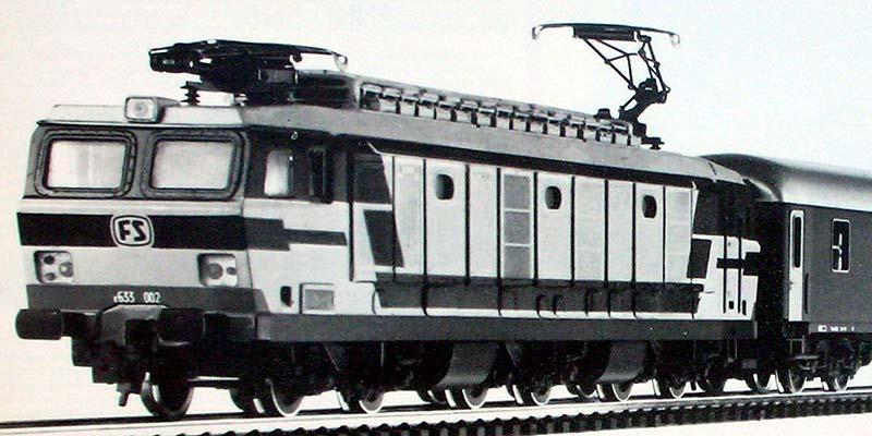 Campione di preproduzione della E633 002 Rivarossi, dal catalogo novità 1981 - foto da rivarossi-memory.it