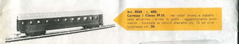 """Prima apparizione delle carrozze """"tipo 1946"""" sul catalogo Lima 1960 - foto da lima-tribute.it"""