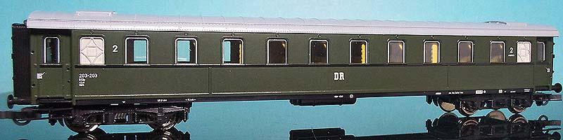 Carrozza di 2ª classe serie 30.000 immatricolata DR, art. 44933 - foto da ebay