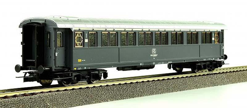 Carrozza serie 50.100 di 1ª classe in livrea grigio ardesia, art. 45545 - foto da ebay