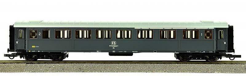 Carrozza serie 50.100 di mista di 1ª e 2ª classe in livrea grigio ardesia, art. 45546 - foto da ebay