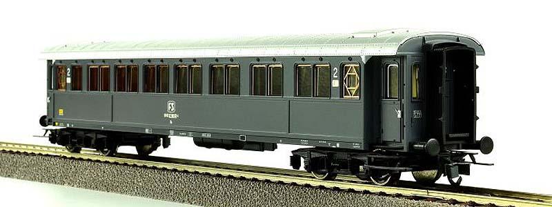 Carrozza serie 50.100 di 2ª classe in livrea grigio ardesia, art. 45547 - foto da ebay