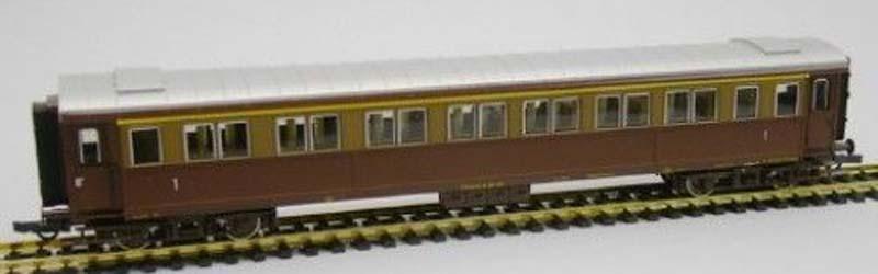 Carrozza serie 50.100 di 1ª classe in livrea castano-isabella, art. 45550 - foto da ebay