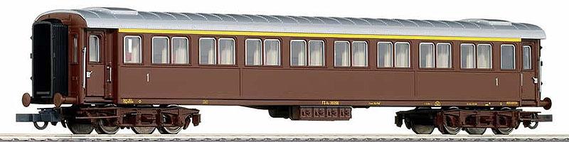 Carrozza serie 20.000 di 1ª classe in livrea castano, art. 45699 - foto da ebay