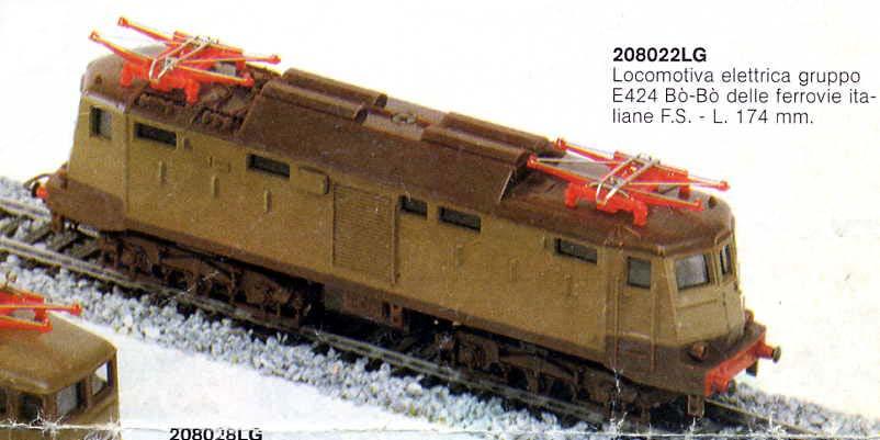 """La E424 con saracinesca color isabella raffigurata sui cataloghi intorno al 1980 - foto da catalogo Lima """"Primi impianti 1982"""""""