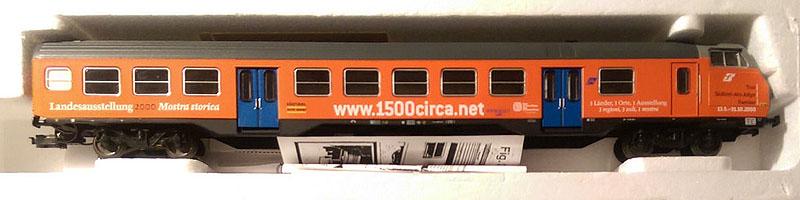 "Carrozza pilota MDVC TE con cabina aerodinamica in livrea ""Landesausstellung 2000"", art. 309538-2 – foto da ebay"