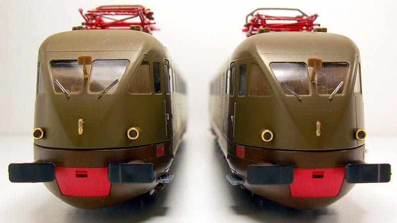 Le testate delle carrozze di estremità dell'ETR 209, art. 5302 - foto da ebay