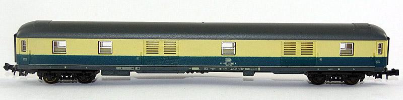 Bagagliaio DB in scala N in livrea blu-beige, art. 320312 - foto da ebay
