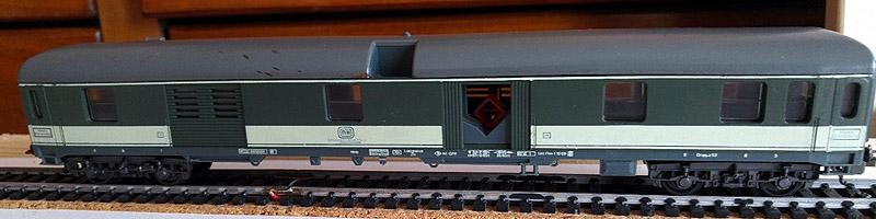 """Bagagliaio DB verde-grigio """"scarico casse"""", contenuto nella confezione art. 976 - foto da ebay"""